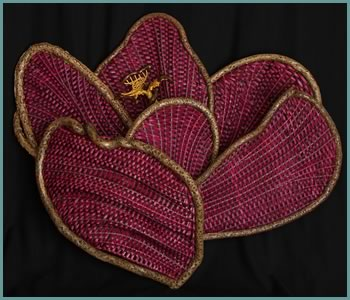 Crocus, a woven flower by basket artist Tina Puckett