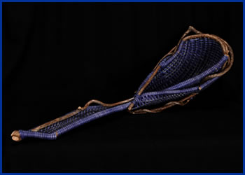 The bowl Ladle by master weaver Tina Puckett