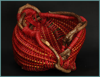Queen Butterfly basket style by Tina Puckett, master basket weaver from Winsted, CT