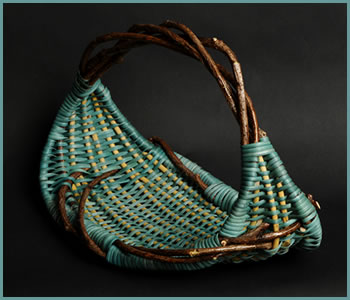Basket named Simplicity, woven by Tina Puckett