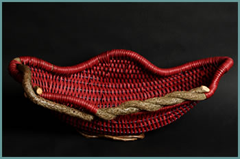 Soft Curves bowl style by master weaver Tina Puckett