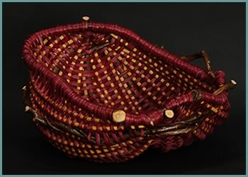 Sweet Candy, a bowl from master weaver Tina Puckett