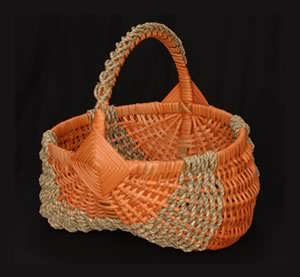 tradtional weave basket by Tina Puckett