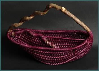 Two Pockets basket-style by master basket weaver Tina Puckett